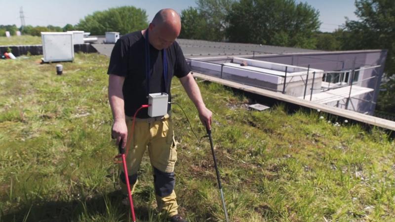 Flachdach Leckageortung Thermografie und Blowerdoor in